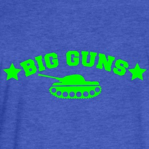 BIG GUNS stars and a tank (my secret weapons) Sweatshirts - Fitted Cotton/Poly T-Shirt by Next Level