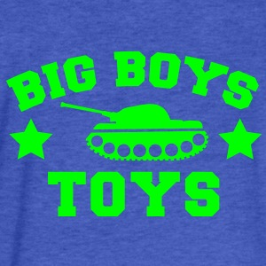 BIG BOYS TOYS with a tank and stars Sweatshirts - Fitted Cotton/Poly T-Shirt by Next Level