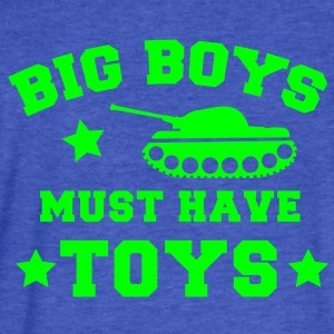 BIG BOYS MUST HAVE TOYS stars and a tank Sweatshirts - Fitted Cotton/Poly T-Shirt by Next Level