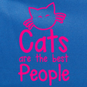 CATS are the best people! with cute little kitty cat and whiskers Sweatshirts - Computer Backpack