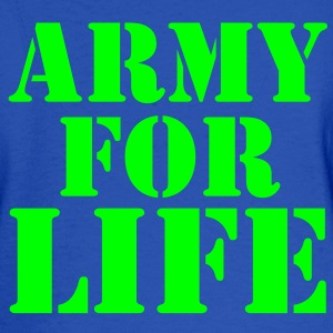 ARMY for LIFE in stencil really bold Sweatshirts - Men's Long Sleeve T-Shirt