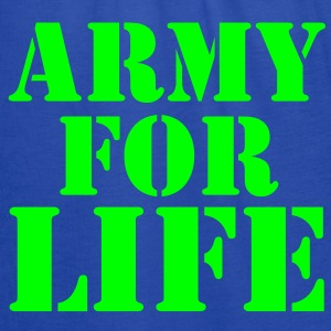 ARMY for LIFE in stencil really bold Sweatshirts - Women's Flowy Tank Top by Bella