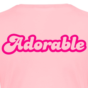 adorable! in cute font Sweatshirts - Women's Premium T-Shirt