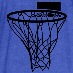 Basketball or Netball hoop net Sweatshirts - Fitted Cotton/Poly T-Shirt by Next Level