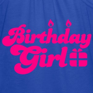 birthday girl new with present Sweatshirts - Women's Flowy Tank Top by Bella
