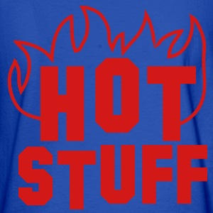 hot STUFF with fire red Sweatshirts - Men's Long Sleeve T-Shirt