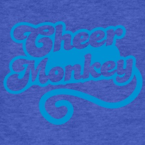 cheer monkey with a tail  (Cheerleader shirt design) Sweatshirts - Fitted Cotton/Poly T-Shirt by Next Level