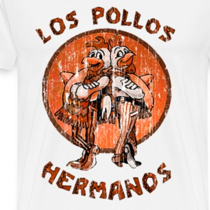 los pollos orange Long Sleeve Shirts - Men's Premium T-Shirt