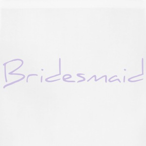 Bridesmaid Text Word Graphic Design Picture Vector Women's T-Shirts - Adjustable Apron