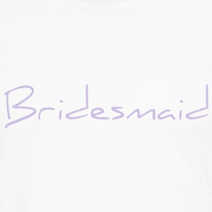 Bridesmaid Text Word Graphic Design Picture Vector Women's T-Shirts - Men's Premium Long Sleeve T-Shirt