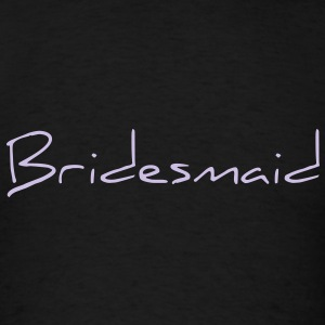 Bridesmaid Text Word Graphic Design Picture Vector Long Sleeve Shirts - Men's T-Shirt