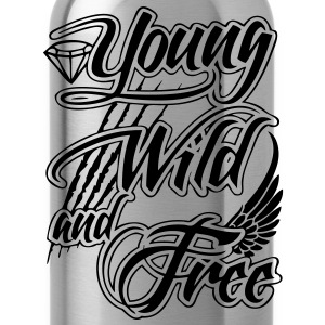 Young, Wild, and Free T-Shirts - stayflyclothing.com - Water Bottle