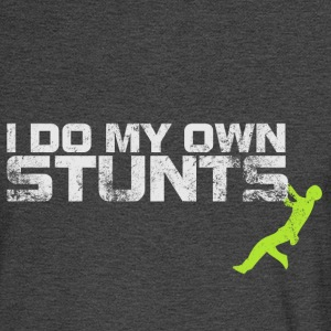 I Do My Own Stunts (green accent) - Men's Long Sleeve T-Shirt