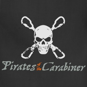 Pirates of the Carabiner (3-color vector) T-Shirts - Adjustable Apron