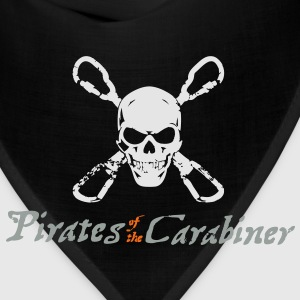 Pirates of the Carabiner (3-color vector) T-Shirts - Bandana