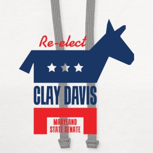 Re-elect Clay Davis T-Shirt (White) - Contrast Hoodie