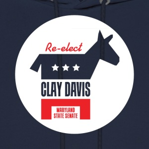 Re-elect Clay Davis T-Shirt (Navy) - Men's Hoodie