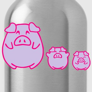 three cute pigs Long Sleeve Shirts - Water Bottle