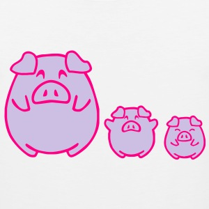three cute pigs Long Sleeve Shirts - Men's Premium Tank