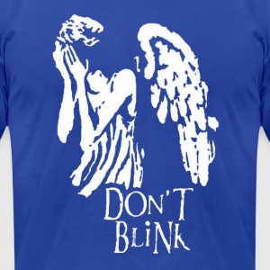 dont blink Hoodies - Men's T-Shirt by American Apparel