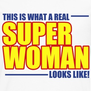 SUPER WOMAN Women's T-Shirts - Men's Premium Long Sleeve T-Shirt