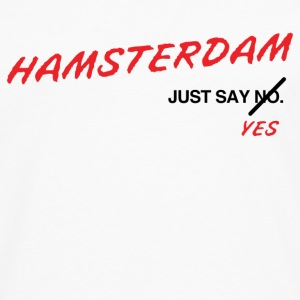 Hamsterdam T-Shirt (White) - Men's Premium Long Sleeve T-Shirt