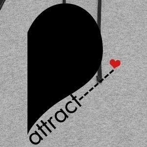 Opposite Attract Right SIde - Colorblock Hoodie
