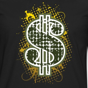 Dollar sign T-shirt - Men's Premium Long Sleeve T-Shirt