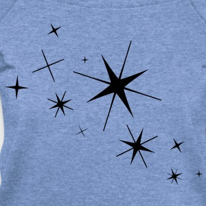 Stars - High Quality Vector T-Shirts - Women's Wideneck Sweatshirt