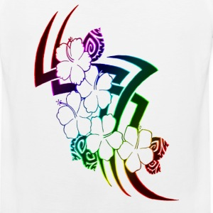 Neon Rainbow Tribal Flowers - Men's Premium Tank
