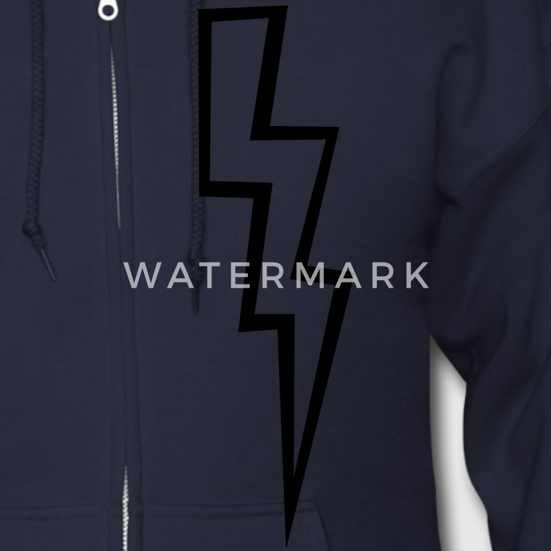 Lightning Bolt - High Quality Vector Zip Hoodies/Jackets - Men's Zip Hoodie