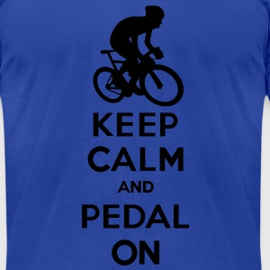Keep Calm, Pedal On - Men's T-Shirt by American Apparel