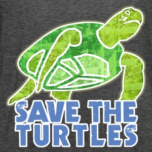 Save the Turtles - Women's Flowy Tank Top by Bella