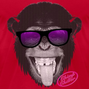 Chimp Chiller - Sunglasses Long Sleeve Shirts - Men's T-Shirt by American Apparel