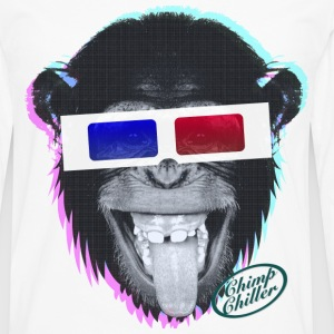 Chimp Chiller - 3D T-Shirts - Men's Premium Long Sleeve T-Shirt