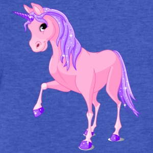 Pink Unicorn Sweatshirts - Fitted Cotton/Poly T-Shirt by Next Level