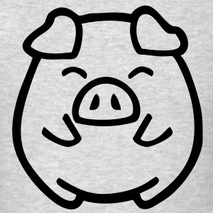 cute pig Long Sleeve Shirts - Men's T-Shirt