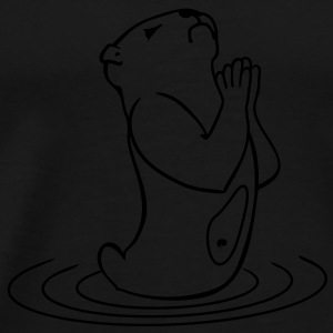 otter prayer (1c) Tanks - Men's Premium T-Shirt
