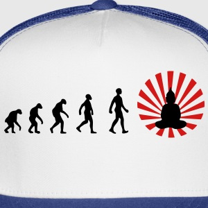Darwin, evolution, revolution, enlightened, Buddha, buddhism, Women's T-Shirts - Trucker Cap