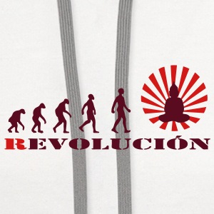 Darwin, evolution, revolution, enlightened, Buddha, buddhism, Women's T-Shirts - Contrast Hoodie