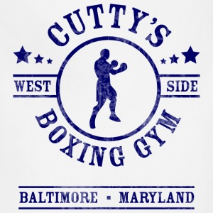 Cutty's Boxing Gym T-Shirt (White) - Adjustable Apron