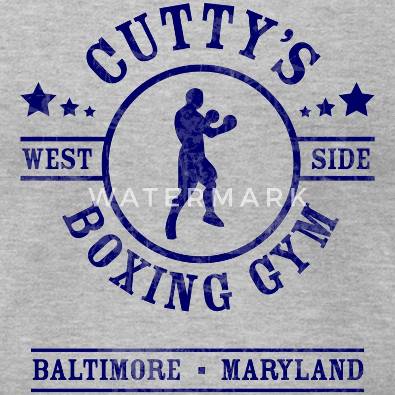 Cutty's Boxing Gym T-Shirt (Heather Gray) - Men's T-Shirt by American Apparel