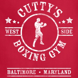 Cutty's Boxing Gym T-Shirt (Red) - Adjustable Apron