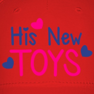His new toys with cute little love hearts funny! Women's T-Shirts - Baseball Cap