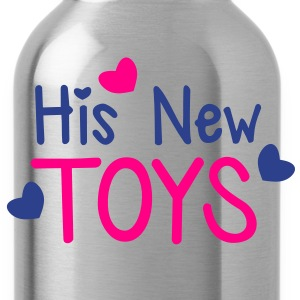 His new toys with cute little love hearts funny! Women's T-Shirts - Water Bottle