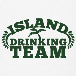 island drinking team great for a Holiday shirt Buttons - Men's T-Shirt