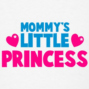 Mommy's little princess with cute love hearts Buttons - Men's T-Shirt