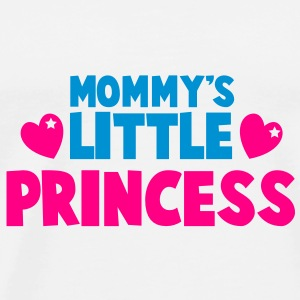 Mommy's little princess with cute love hearts Buttons - Men's Premium T-Shirt