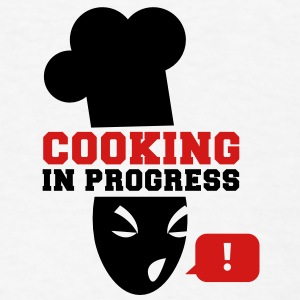 COOKING in PROGRESS!  Buttons - Men's T-Shirt