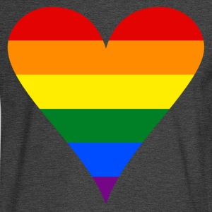 Gay Pride Rainbow Heart Funky Men's Tri-Blend Vintage T-Shirt by American Apparel - Men's Long Sleeve T-Shirt